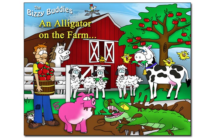 Bizzy Buddies - An Alligator on the Farm - Snails Pace Productions